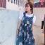 [Preorder] กระโปรงทรงเอสไตล์เกาหลีน่ารักลายสับปะรด มีสีน้ำเงิน/เหลือง thumbnail 7