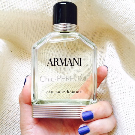 official photos detailing new authentic น้ำหอม Giorgio Armani Eau Pour Homme EDT 100ml