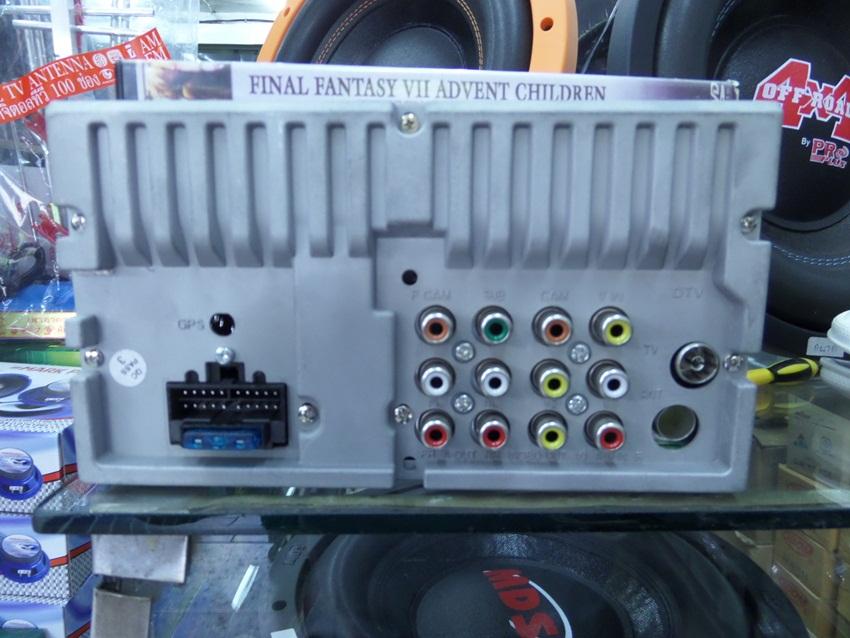 ด้านหลังของ เครื่องเล่น วิทยุติดรถยนต์ 2 DIN ยี้ห้อ PROPLUS จอขนาด 6.9 นิ้ว