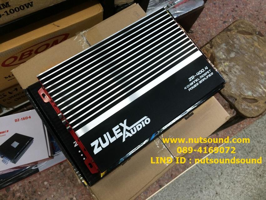 เพาเวอร์แอมป์รถยนต์ 4 CH 2000 W ยี้ห้อ ZULEX รุ่น ZR 400.4