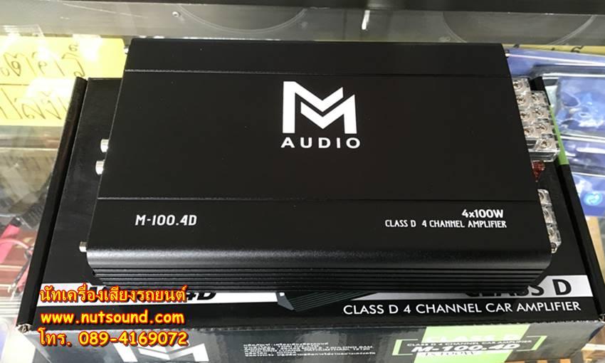 เพาเวอร์แอมป์รถยนต์ คลาสดี 4 CH ยี้ห้อ M AUDIO