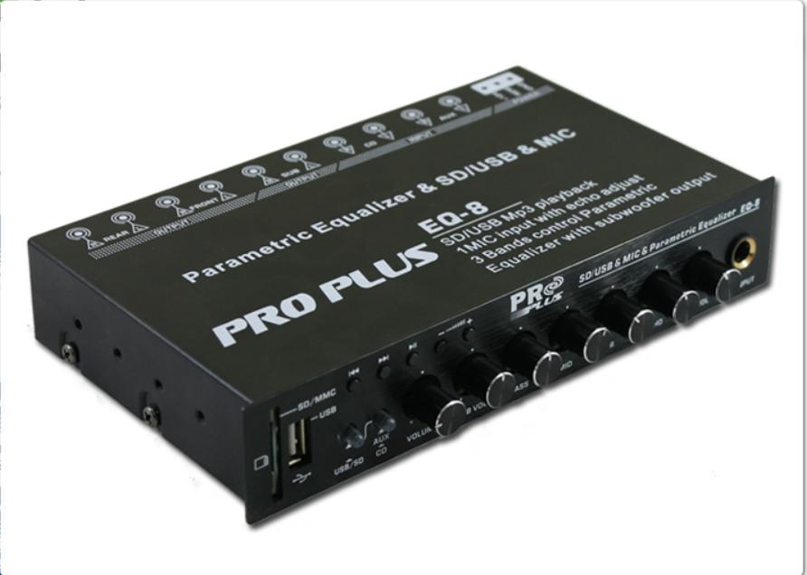ปรีแอมป์รถยนต์ 3 แบนด์ เล่น USB /SD CARD และไมค์โครโฟน ได้ ยี้ห้อ PRO PLUS
