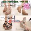 สินค้าพร้อมส่ง 17-3013 มาใหม่จ้าาา รองเท้าสไตล์เกาหลีงานนำเข้า คาดหน้าทรงเก๋ๆด้วยหนังพียูอย่างดี มีสายรัดส้นแบบเมจิกเทป ใส่ง่ายถอดง่ายจ้า ตัวส้นเป็นพลาสติกอัดแข็ง น้ำหนักเบาจ้าา ส้นเตารีดสูง 4.5 นิ้ว เสริมหน้า 2 นิ้ว มีให้เลือก 4 สีเลยจ้าา
