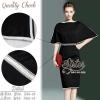 สินค้าพร้อมส่ง 한국에 의해 설계된 2Sister Made, Black Elegant Beauty Charming Dress เดรสสีดำลุคเรียบหรู เนื้อผ้าpolyesterสีดำเกรดดี กุ้นแต่งขอบสีขาวเก๋ๆ ช่วงบนทรงoversized แขนบานสวย เอวจั้ม แต่งประดับเลื่อมวิบวับช่วงเอวสวยมากค่ะแพทเทิร์นเข้ารูปเป็นทรงสวย สามารถใส