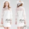 สินค้าพร้อมส่ง 한국에 의해 설계된 2Sister Made, White Gorgeous Cuties Dress เดรสสั้นลุคสาวหวาน เนื้อผ้านิ่มเกรดดีสีขาวสะอาดตา งานมีซับในอย่างดีนะคะ ดีเทลแขนยาว แต่งผ้าซีทรูช่วงไหล่และแขน แขนแต่งผ้าระบายเป็นเลเยอร์ชั้นๆสวยมากค่ะ สามารถใส่ได้หลายโอกาสเลยจ้า ป้าย2Si