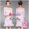 Elegant Floral Lace Style Korea Dress เดรสผ้าลูกไม้ทูโทนงานสวยหรูค่ะ ผ้าลูกไม้สั่งทำมาเป็นพิเศษค่ะ มีสองสีในลายผ้างานสวยสไตล์งานแบรนด์ค่ะ ด้วยเนื้อผ้าลูกไม้ลายดอกไม้เด่นชัด เน้นลวดลายได้สวยหรูลงตัว ทรงคอปาดเย็บประดับด้วยลูกไม้ฉลุลายช่วงคอให้โดดเด่น ทรงแขน