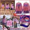 bohemian style in sweety pink mini dress::: เดรสสไตล์โบฮีเมียน มาในงานผ้าฝ้ายแท้ 100% เนื้อนิ่ม ใส่สบายมาก พร้อมลายที่สวยโดดเด่น ลายผ้าคมชัด น่ารักสุดๆ