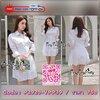 Smart Chic White Shirt Style Korea เดรสเชิตตัวยาวเนื้อผ้าคอตตอนสีขาวสวยงานแฟชั่นเกาหลีค่ะ เนื้อผ้าคอตตอนขาวสวยมาทรงเชิตคอปกแขนยาว ตกแต่งเชือกผูกไขว้ด้านข้างสวยเก๋มากค่ะ หน้าอกมีกระเป๋าเสื้อสองข้าง มีกระดุมผ่าหน้า เชิตใส่แบบเข้ารูปก็ได้ หรือปล่อยพลางหุ่นก็