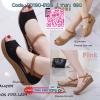 แบบขายดี!!! 288-104 พร้อมส่ง ครีเอทลุคของคุณให้สวยชิคยิ่งขึ้นด้วยรองเท้าคู่นี้ วัสดุหนังนิ่มฉลุลายแบบเปิดหน้าเท้า แต่งส่ยรัดข้อตะขอเกี่ยวปรับได้ ส้นเตารีดพียูน้ำหนักเบาสูง 2 นิ้ว สวมใส่แล้วเข้ากับseasonนี้จริงๆ ใส่สวยเก๋แบบนี้ไม่อยากให้สาวๆพลาดเรยน้า