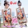 Seoul Secret Say's... Vasesly Gabana Summer Print Dress Material : งานเดรสลายสวยสไตล์ DG เนื้อผ้าสวยด้วยเนื้อผ้าโพลีเอสเตอร์ผสมคอตตอนเนื้อสวยดูมีราคา ทอแต่งลายนูนสไตล์คลาสสิคในตัว งานสวยดูสดใสเก๋ๆ ด้วยงานพิมพ์ลายดอกไม้ แต่งด้วยงานเย็บแต่งประดับด้วยเพ
