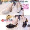 NEW รองเท้าคัทชูหัวตัดสไตล์เกาหลี วัสดุหนัง PU แบบน่ารักมากๆ ความสูง 2 นิ้วเท่านั้น ขนาดกำลังดีเดินไม่ยากเลยค่ะ (สินค้าเหมือนรูปเป๊ะๆ 100%)