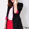 เสื้อผ้าแฟชั่นนำเข้า : เสื้อสูทแฟชั่น พร้อมส่ง แขนยาว สีดำ แต่งปลายแขนเสื้อสีชมพูสดใส คอจีน ตัวยาวคลุมสะโพก เหมาะสำหรับใส่ทำงานได้ แต่งแขนพับสีชมพูสดใน ไหล่เสริมฟองน้ำ ซับในสีชมพู มีกระเป๋าด้านหน้าใช้งานได้