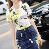 Seoul Secret Say's... Lemony Sour-Sweety Chic DenimSkirt Set Material : เสื้อเนื้อผ้ายืด ใส่สบายๆ ด้วยทรงเสื้อยืดคอกลม สวยเก๋ด้วยงานพิมพ์ลายเลมอนสีเหลืองสดใสน่าใส่มากคะ มาพร้อมกับกระโปรงทรงสอบเนื้อผ้ายีนส์ สวยเก๋ด้วยงานเย็บประดับด้วยอะไหล่ประดิษฐ์นำม
