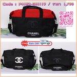 Chanel Authentic VIP Gift Bag Duffle Gym Travel -สินค้าเป็นของแท้ ใหม่ จากเค้าเตอร์เครื่องสำอาง/ น้ำหอมของแบรนด์- Chanel vip gift bag ของแท้ 100% ใช้เป็นกระเป๋าเดินทาง/ไปฟิตเนส ไปยิม หัวซิปปั้มโลโก้ ด้านในเป็นช่องกว้าง และช่องซิป ฐานกระเป๋ามีช่องแยกใต้กระ