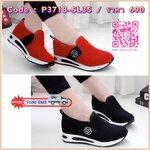 รองเท้าผ้าเกาหลี เสริมส้น ผ้า Poly Fuction ระบายอากาศได้ดีเป็นอันดับหนึ่ง แต่งดีเทลด้านข้างเก๋ๆ พื้นแอร์ ใส่สวย look sport สุดๆค่ะ