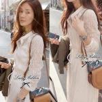 Lady Ribbon's Made PARTYSU White Ribbon Lace See-through Maxi, Partysu Korea เเมกซี่ลูกไม้ See-through แขนยาว ดีเทลผูกโบว์เอว ลุคผู้ดี เรียบหรู ด้วยโทนสีขาว หวานเบาๆด้วยดีเทลลูกไม้ทั้งตัว **งาน Premium quality ป้าย Lady Ribbon นะคะ Pattern / Cutting เกาหล