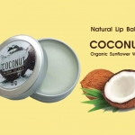 Natural Lip Balm Coconut - Organic Sunflower Wax