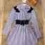 New Arrival …Don't Miss! Normal Ally Present Striped Hi-end style with belt dress (เดรส ,มีเข็มขัด , แต่งช่วงไหล่ด้วยกำมะหยี่ลายขนนก,สม๊อคเอวหลัง) งาน Premium Quality ค่ะ งานสวย เก๋ มากๆ ค่ะ ดีไซด์ แบบ สวยไฮ มากๆ ใช้ผ้าเชิ้ตเนื้อสวย แต่งช่วงไหล่ด้วยผ้ากำม thumbnail 8