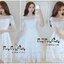 Luxurious White Lady Embroidered Flora Lace Dress แมกซี่เดรสสีขาวสไตล์เกาหลี ทรงเดรสคอเหลี่ยมปาด แขนยาวปิดศอก ผ้าลูกไม้ปักลวดลายดอกไม้นานาพันธุ์ทั้งตัว มีซับในเกาะอกให้อย่างดีค่ะ ช่วงเอวเข้ารูป มีซิปด้านข้าง ทรงกระโปรงปล่อยยาว เพิ่มดีเทลความสวยด้วยเข็มขัด thumbnail 8