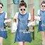 Seoul Secret Say'...Gene A ChicChic Sport Dress Material : เดรสยีนสุดชิค สวยเก๋มากคะ เดรสทรงปล่อยสบายๆ เนื้อผ้ายีนส์ยืดได้เล็กน้อย ช่วงเเขนกับช่วงคอกุ๊นชายสม็อคด้วยผ้ายืดลายริ้วแนวสปอร์ตเก๋มากคะ เเขนเสื้อเนื้อผ้าชีฟองสีขาวดีเทลช่วงอกปักอักษรรูปตัวเอเ thumbnail 3
