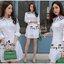 Smart Chic White Shirt Style Korea เดรสเชิตตัวยาวเนื้อผ้าคอตตอนสีขาวสวยงานแฟชั่นเกาหลีค่ะ เนื้อผ้าคอตตอนขาวสวยมาทรงเชิตคอปกแขนยาว ตกแต่งเชือกผูกไขว้ด้านข้างสวยเก๋มากค่ะ หน้าอกมีกระเป๋าเสื้อสองข้าง มีกระดุมผ่าหน้า เชิตใส่แบบเข้ารูปก็ได้ หรือปล่อยพลางหุ่นก็ thumbnail 9