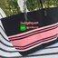 กระเป๋าผ้า Canvas สีดำ พิมพ์สีชมพูไล่สี สดใส ยี่ห้อ Victoria's Secret กระเป๋าสะพายไหล่ ทรง Shopping Bag เปิดปิดด้วยซิปยาว ด้านหน้าพิมพ์สกรีนยี่ห้ออย่างโดดเดี่ยว สวยเปรียว ทันสมัย เหมาะสำหรับสาวๆที่ชอบกระเป๋าใบใหญ่ จุเยอะๆ ทรงเดียวกับหลุยส์ Neverfull  thumbnail 2