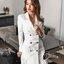 พร้อมส่ง Cliona Made' Korean Luxury Jacket Dress - ชุดเดรสสูตรแขนยาว ช่วงไหล่มีฟองน้ำในตัว คอวี ทรงป้ายหน้าติดกระดุมซ่อน ผ่าด้านหน้าสองข้าง สวมใส่ง่าย ที่ปลายแขนมีกระดุม ชายกระโปรงอัดกลีบรอบดูสวยมากค่ะ สาวๆไม่ควรพลาดกันเลยทีเดียวค่าา งานเกรด Premium  thumbnail 8