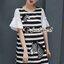 Seoul Secret Say's...Girly Zebra Stripe Knite Tie Eyelet Dress Material : เดรสลายริ้วเนื้อผ้าคอตตอลใส่แล้วดูหวานๆ เก๋น่ามอง งานสวยเก๋ด้วยลายริ้ว ทรงปล่อยสวยน่ารักมากคะ ดีเทลงานปักลายม้าลายมีมิติเก๋มากคะ ช่วงแขนเย็บต่อด้วยผ้าแขนระบายหวานๆ สาวๆ เติมด้ว thumbnail 8