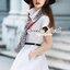 Seoul Secret Say's... Scarfy Whity A Shape Dress Material : เดรสเชิ้ตสีขาว เนื้อผ้าคอตตอนเนื้อสวยอย่างดี สวยเก๋ด้วยทรงเดรสเชิ้ต มีดีเทลเก๋ๆ รับ Autumn ด้วยผ้าพันคอพิมพ์แยกชิ้นได้นะคะ ลายสไตล์คลาสสิค เรียบเก๋ๆ ดูดีแบบมีคลาส เติมความเก๋ด้วยเข็มขัดและผ้ thumbnail 8