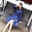 New Arrival .. Don't Miss! Normal Ally Present Embroidered and Boutique Denim dress (เดรสผ้ายีนส์ , แต่งช่วงแขนผ้าตาข่ายเนื้อหนา, กระดุมเพชรหน้า, ปักดอกไม้แต่ง, มีเชือกผูกเอว) งาน Premium Quality ค่ะ รุ่นนี้บอกเลยว่าผ้าดีมาก ผ้ายีนส์เนื้อยืดเล็กน้อย thumbnail 6