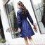 New Arrival .. Don't Miss! Normal Ally Present Embroidered and Boutique Denim dress (เดรสผ้ายีนส์ , แต่งช่วงแขนผ้าตาข่ายเนื้อหนา, กระดุมเพชรหน้า, ปักดอกไม้แต่ง, มีเชือกผูกเอว) งาน Premium Quality ค่ะ รุ่นนี้บอกเลยว่าผ้าดีมาก ผ้ายีนส์เนื้อยืดเล็กน้อย thumbnail 7