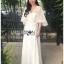 Lady Ribbon's Made Lady Jessica Little Princess Embroidered Chiffon Long Dress with Camellia Belt เดรสผ้าชีฟองปักลายสีขาวตกแต่งเข็มขัดดอกคามิลเลีย ตัวนี้สวยมากค่ะ เป็นเดรสยาว ใส่ออกงานได้เลย เนื้อผ้าเป็นชีฟองเนื้อหนาปักลายจุดเป็นแพทเทิร์นตารางทั่วตัว thumbnail 4