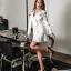 พร้อมส่ง Cliona Made' Korean Luxury Jacket Dress - ชุดเดรสสูตรแขนยาว ช่วงไหล่มีฟองน้ำในตัว คอวี ทรงป้ายหน้าติดกระดุมซ่อน ผ่าด้านหน้าสองข้าง สวมใส่ง่าย ที่ปลายแขนมีกระดุม ชายกระโปรงอัดกลีบรอบดูสวยมากค่ะ สาวๆไม่ควรพลาดกันเลยทีเดียวค่าา งานเกรด Premium  thumbnail 7