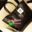 "Best Seller! Givenchy Black Soft Leather Shoulder Handbags (Limited edition!) กระเป๋าถือหรือสะพายพรีเมี่ยมของเเท้จาก ""Givenchy Perfume Counter"" วัสดุหนังนิ่มเรียบสีดำด้านหน้าปั้มโลโก้แบรนด์ GV ภายใน Polyester 100% สีดำสกรีนโลโก้สวยดูดี เปิดปิดด้ thumbnail 3"