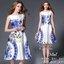 2Sister Made, White & Blue Premium Paradise Korea Vintage Dress เดรสแขนกุดลุคเรียบหรู เนื้อผ้าpolyester+silkมันเงาสวย พิมพ์ลายสวยมากค่ะ ดีเทลแขนกุด งานมีซิปด้านหลังจ้า กระโปรงระบายบานสวย งานมีซับในอย่างดีค่ะ งานป้าย2sister สินค้านำเข้างานพรีเมียมนะคะ Cutt thumbnail 6