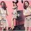 Sweetie Floral Nude Lace Dress Fashion Korea เดรสผ้าลูกไม้สีชมพูนู๊ดสวยหวานมากค่ะ ทรงเดรสคอกลมสูงเย็บตกแต่งด้วยผ้าลูกไม้สีขาว ช่วงกลางอกแต่งด้วยผ้าชีฟองจับจีบเรียงลงมาถึงเอว เย็บประดับด้วยผ้าลูกไม้สีขาวผสมตรงด้านขอบและคาดช่วงเอว ช่วงลำตัวและกระโปรงเป็นผ้า thumbnail 7