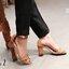 Hermès shoes รองเท้าส้นสูงรัดส้น หนังpuอย่างดี สวยเท่ห์ม๊วกก งานปั้ม Hermès ทรงใสง่าย เดินสบาย ไม่เมื่อยเท้า ใครมองหาทรงนี้อยู่ห้ามพลาดนะคะ พร้อมส่ง 3 สี ดำ เงิน ตาล thumbnail 8