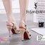 มาเพิ่ม ครบ4 สี แบบขายดีมาก.. สินค้าพร้อมส่ง 851-10 มาใหม่จร้าา.. รองเท้าส้นสูงสไตล์YSLรุ่นหนังเงา วัสดุหนังแก้ว เล่นแสงแวววาว รองเท้าที่สาวๆ ต้องมีติดตู้ไว้เลย หนังสวยนิ่ม สายตะขอเกี่ยว เจาะ4รูปรับขนาดได้ ใส่ง่ายสวยเป๊ะปังจร้า พื้นนิ่ม เสริมหน้า1นิ้ว หลั thumbnail 6