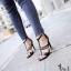 "GIVENCHY SHOES Style Givenchy ส้นสูงดีไซน์เรียบหรู ดูคลาสสิค ซิปหลัง เพิ่มดีเทลโซ่ทอง Sexy สูง4"" กำลังดี ใส่แล้วดูโปร่งสูงเท้าเรียบสวย ใส่ออกงานได้เลยค่ะ หรือจะใส่กับยีนส์ก้อลงตัว เท่ห์ๆ ห้ามพลาดนะคะ ฟ thumbnail 3"