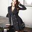 พร้อมส่ง Cliona Made' Korean Luxury Jacket Dress - ชุดเดรสสูตรแขนยาว ช่วงไหล่มีฟองน้ำในตัว คอวี ทรงป้ายหน้าติดกระดุมซ่อน ผ่าด้านหน้าสองข้าง สวมใส่ง่าย ที่ปลายแขนมีกระดุม ชายกระโปรงอัดกลีบรอบดูสวยมากค่ะ สาวๆไม่ควรพลาดกันเลยทีเดียวค่าา งานเกรด Premium  thumbnail 10