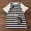 Seoul Secret Say's...Girly Zebra Stripe Knite Tie Eyelet Dress Material : เดรสลายริ้วเนื้อผ้าคอตตอลใส่แล้วดูหวานๆ เก๋น่ามอง งานสวยเก๋ด้วยลายริ้ว ทรงปล่อยสวยน่ารักมากคะ ดีเทลงานปักลายม้าลายมีมิติเก๋มากคะ ช่วงแขนเย็บต่อด้วยผ้าแขนระบายหวานๆ สาวๆ เติมด้ว thumbnail 13