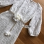 Lady Ribbon's Made Lady Jessica Little Princess Embroidered Chiffon Long Dress with Camellia Belt เดรสผ้าชีฟองปักลายสีขาวตกแต่งเข็มขัดดอกคามิลเลีย ตัวนี้สวยมากค่ะ เป็นเดรสยาว ใส่ออกงานได้เลย เนื้อผ้าเป็นชีฟองเนื้อหนาปักลายจุดเป็นแพทเทิร์นตารางทั่วตัว thumbnail 10