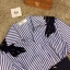 New Arrival …Don't Miss! Normal Ally Present Striped Hi-end style with belt dress (เดรส ,มีเข็มขัด , แต่งช่วงไหล่ด้วยกำมะหยี่ลายขนนก,สม๊อคเอวหลัง) งาน Premium Quality ค่ะ งานสวย เก๋ มากๆ ค่ะ ดีไซด์ แบบ สวยไฮ มากๆ ใช้ผ้าเชิ้ตเนื้อสวย แต่งช่วงไหล่ด้วยผ้ากำม thumbnail 9