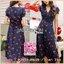 Lady Ribbon's Made Lady Beatrice Summer Cherries Printed Dress เดรสพิมพ์ลายเชอร์รี่สไตล์ซัมเมอร์ ลุคนี้สวยเก๋สุดๆ เป็นสไตล์ศัมเมอร์เลย สีสดใส แต่ไม่ฉูดฉาด พื้นผ้าเป็นสีน้ำเงินสด พิมพ์ลายเชอร์รี่สีแดงสดทั่วทั้งตัว ทรงเดรสเป็นแบบปาดข้าง ผูกโบที่เอว แบบ thumbnail 1