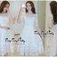 Luxurious White Lady Embroidered Flora Lace Dress แมกซี่เดรสสีขาวสไตล์เกาหลี ทรงเดรสคอเหลี่ยมปาด แขนยาวปิดศอก ผ้าลูกไม้ปักลวดลายดอกไม้นานาพันธุ์ทั้งตัว มีซับในเกาะอกให้อย่างดีค่ะ ช่วงเอวเข้ารูป มีซิปด้านข้าง ทรงกระโปรงปล่อยยาว เพิ่มดีเทลความสวยด้วยเข็มขัด thumbnail 7