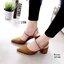 รองเท้าคัชชูหน้าเรียว หนังสักหราด ใส่ได้ 2 แบบ คาดสายที่หน้าเท้า หรือจะใส่แบบรัดส้นก็ได้ค่ะ งานสวยเก็บรายละเอียด ส้น pu ทรงสวย thumbnail 7