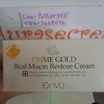 Dr.MJ Prime Gold Real Mucin Restore Cream 50g ครีมหอยทากทองคํา