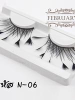 N-06 ขายส่ง ขนตาปลอม ขนนก ขนตาแฟนซี (ขั้นต่ำ12กล่องคละได้)